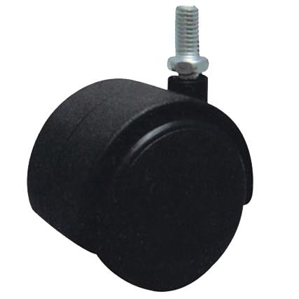 Купить Колесо мебельное с резьбовым штифтом М8 d 50 мм, черный