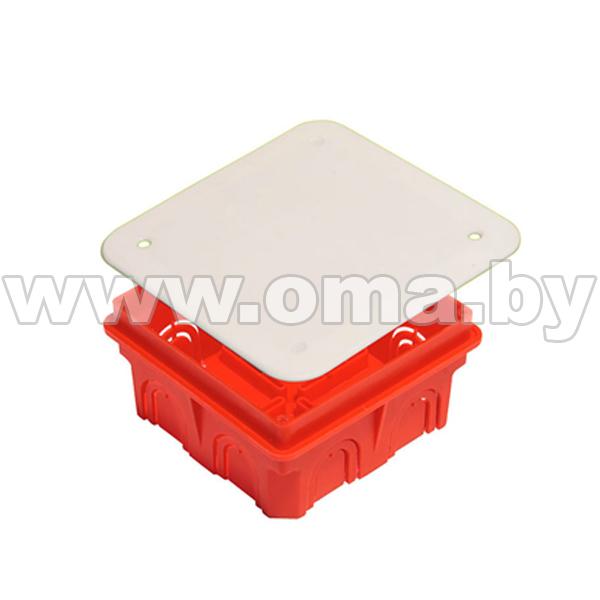 Купить Коробка монтажная, разветвительная для сплошных стен прямоугольная с крышкой КР1101-И (г/р 102х102х50)мм HEGEL