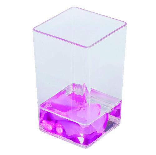 Купить Стакан для зубных щеток Аквалиния Фиолетовые лепестки