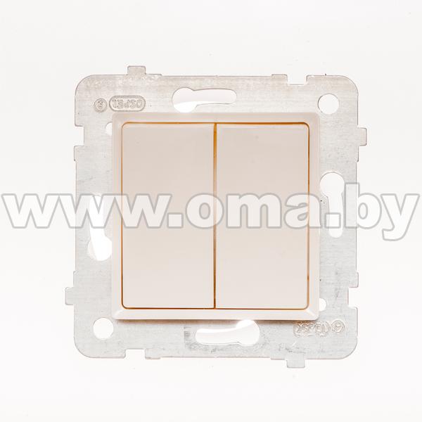 Купить OSPEL ROSA сл.к. Выключатель 2-кл. LP-2Q/m/27