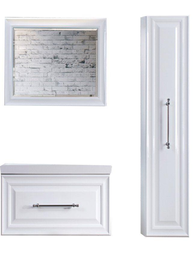 Купить Зеркало Женева В 80 белое (1) (22х800х600)