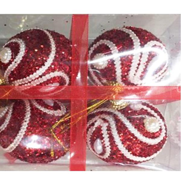 Купить Набор шаров ёлочных 6 шт. 6см, арт. X16001R6