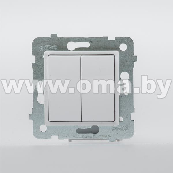 Купить OSPEL ROSA бел. Выключатель 2-кл. проходной (переключатель) LP-10Q/m/46