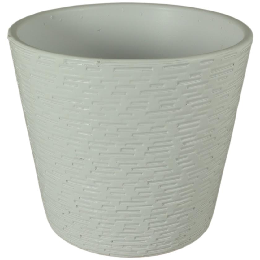 Купить Кашпо керамическое 464 15 см белый матовый