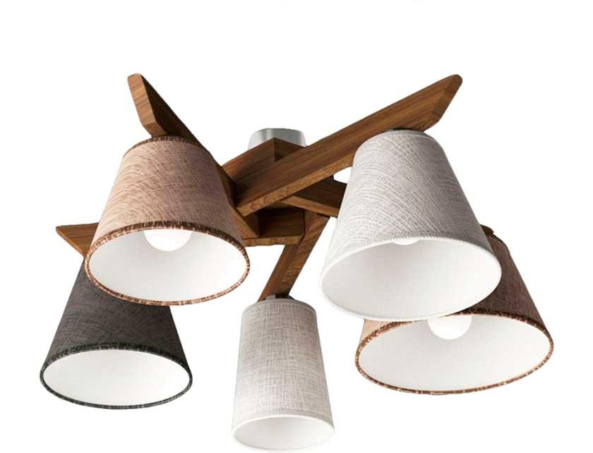 Купить Светильник подвесной (ECO) Йоке 40009 НСБ дуб (5*40Вт, Е14) ООО Белсветоимпорт