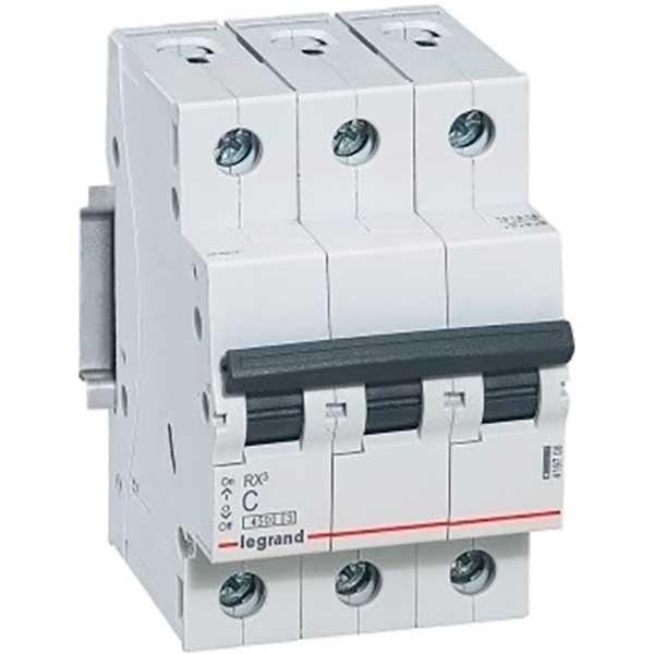 Купить Выключатель автоматический RX3 3P C63A 4, 5кА C 419714 Legrand