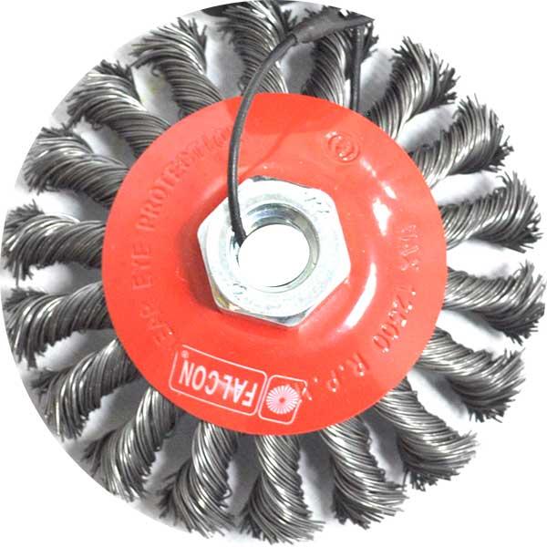 Купить Щетка чашечная проволочная жесткая FALCON 50619706, диаметр 100 мм х М14