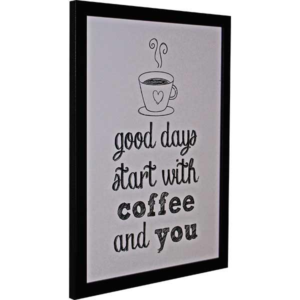 Купить Картина со смыслом Кофе и мы.Светлая 1301009, 34х44 см