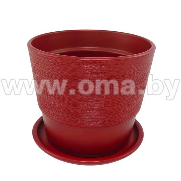 Купить Горшок керам. с подставкой 500 12 см, паприка, арт.KPL50012/49