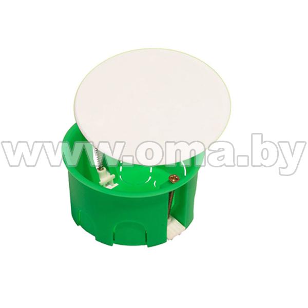 Купить Коробка монтажная, разветвительная для полых стен круглая с крышкой, пластиковые лапки КР1202-И (г/р Ф86х45)мм HEGEL