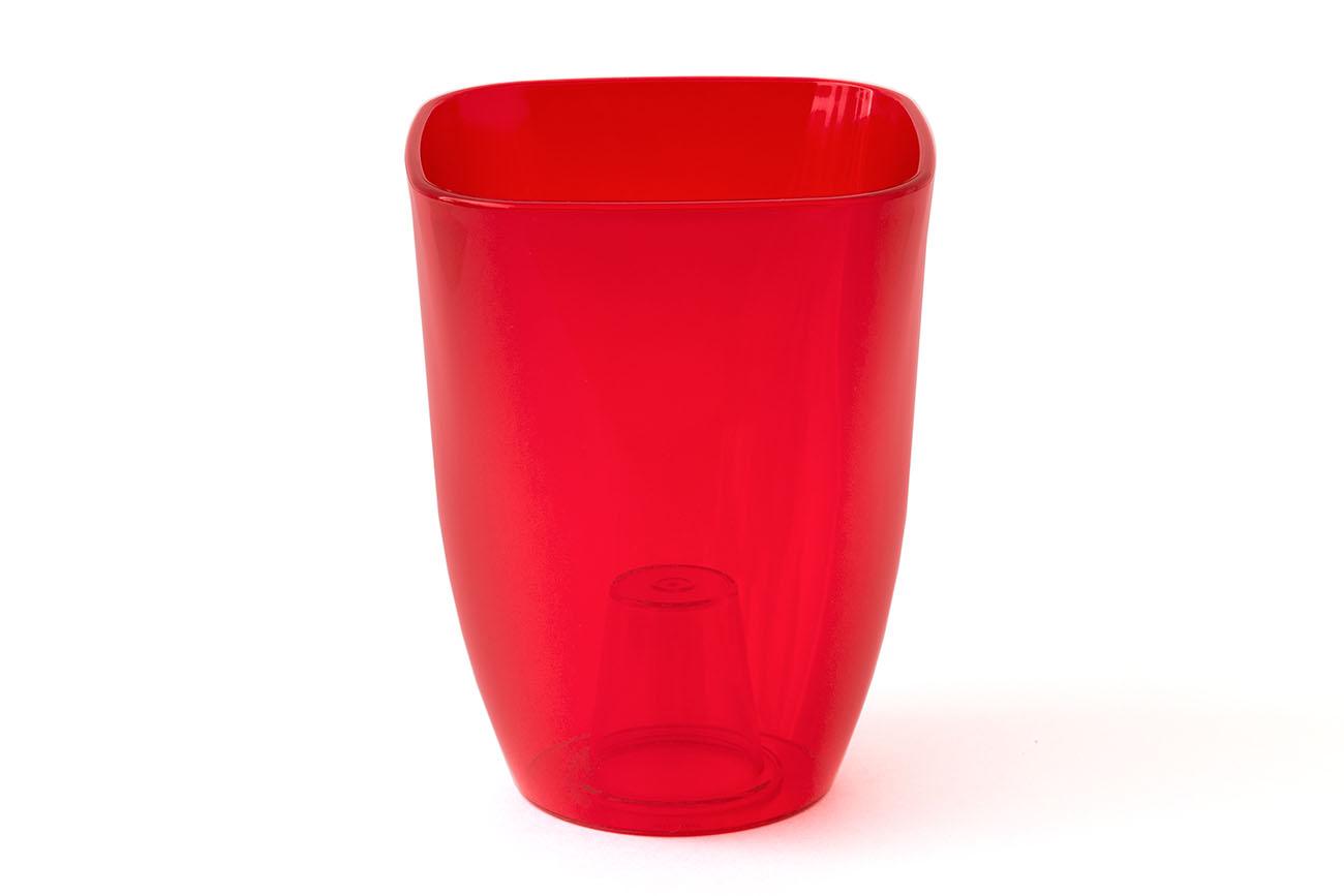 Купить Ваза для орхидей малая 125x125x165 (арт.Т3203) красный, пластик