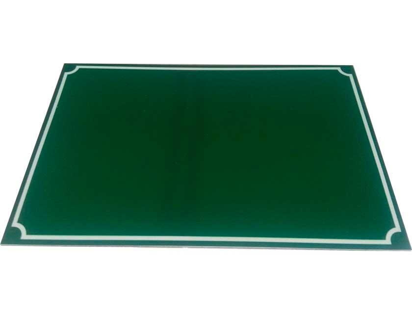 Купить Табличка на дом зелёная 200x150 мм, металл
