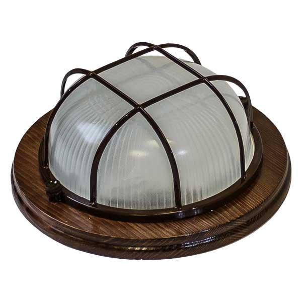 Купить Светильник настенно-потолочный Кантри 022 орех IP54 НБO 03-60-022