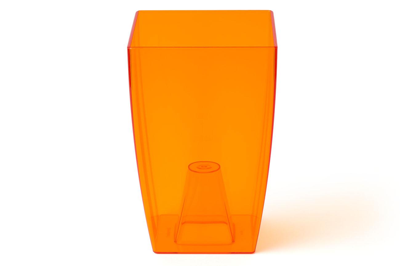 Купить Ваза для орхидей большая 125x125x195(арт.Т3104) оранжевый, пластик