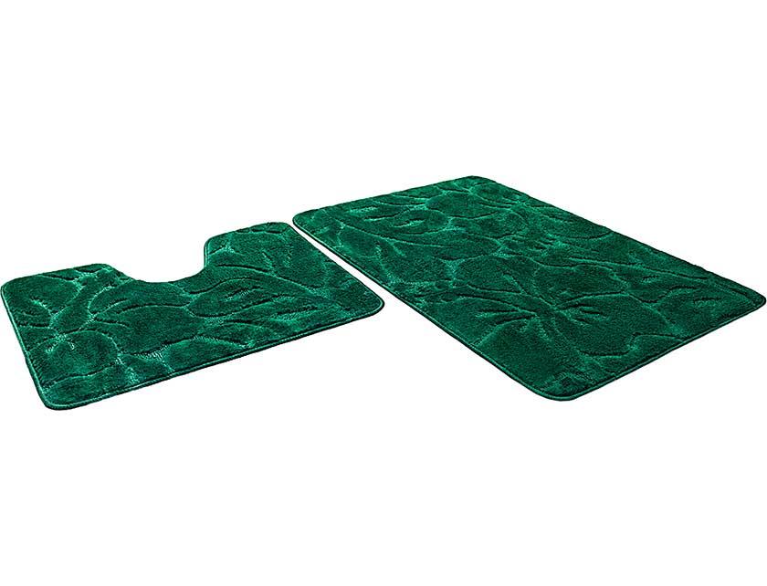 Купить Набор ковриков для ванной ЭКО 700785, 60х90 см, 60х50 см, изумрудный