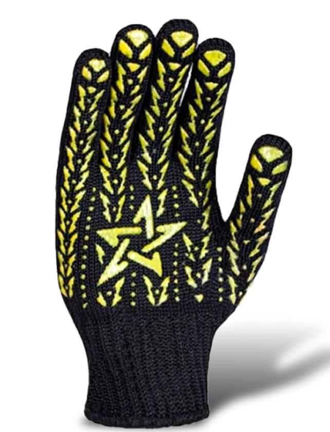 Купить Перчатки трикотажные Звезда с ПВХ 562