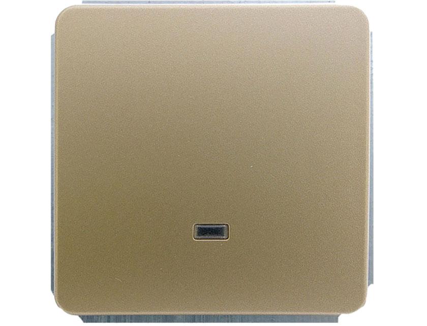 Купить Выключатель одноклавишный с подсветкой без рамки Gusi Extra С1В18-005 золото