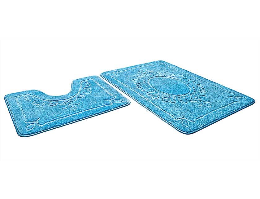 Купить Набор ковриков для ванной ЭКО 861675, 60х90 см, 60х50 см, голубой