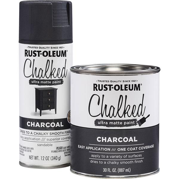 Купить Краска CHALKED RUST-OLEUM с эффектом винтажной пастели угольный 0, 34кг
