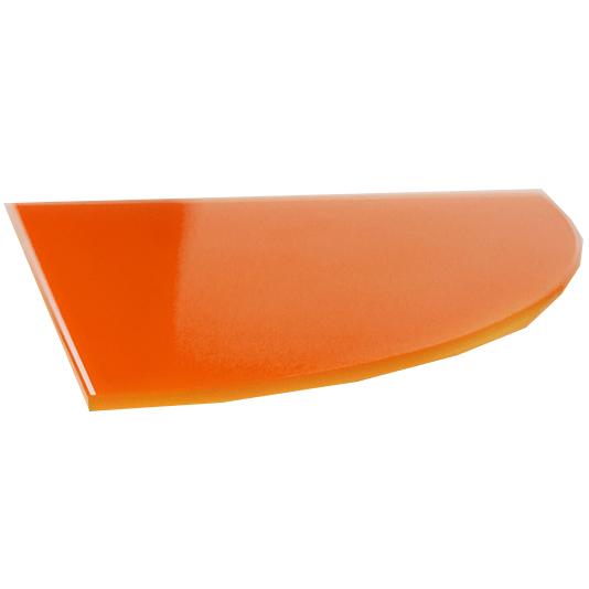 Купить Полка стеклянная, вкладная, 250*250, угловая, стекло, красная, арт. ПС 004-01