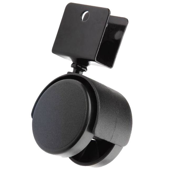 Купить Колесо мебельное d 40 мм для ДСП 16 мм, черный