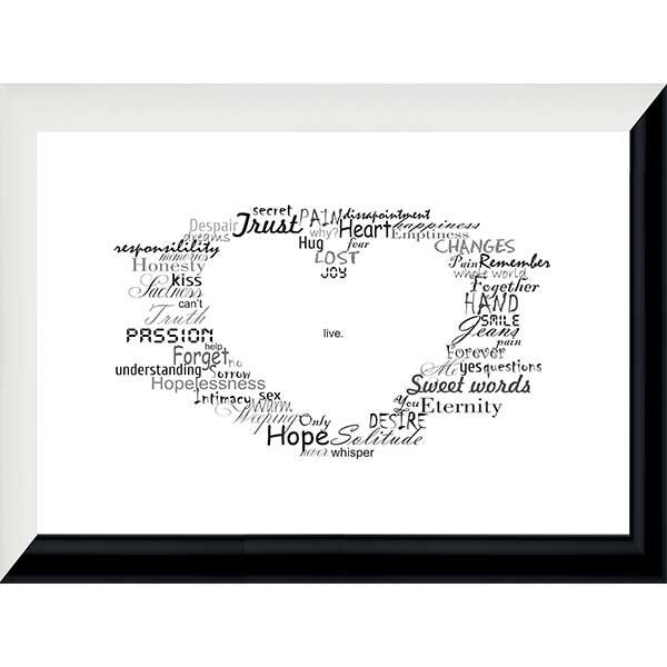 Купить Картина со смыслом Сердце 1301001, 24х33 см