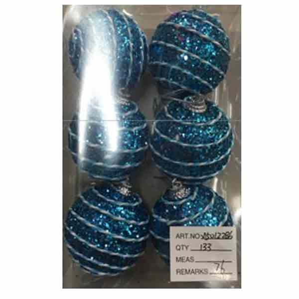 Купить Набор ёлочных шаров X150122B6, 6 шт, 6 см
