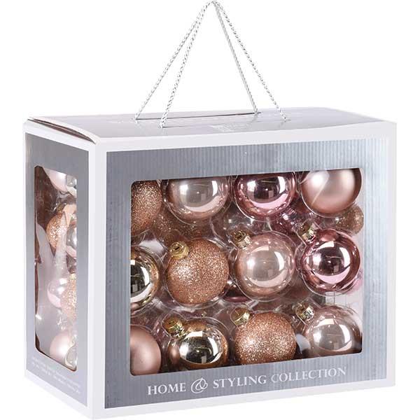 Купить Набор елочных шаров ABR400860 золото, стекло, 60 шт
