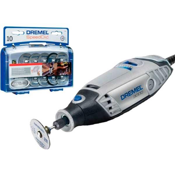 Купить Промо-набор DREMEL 3000-15: шлифмашинка гравировальная DREMEL 3000 KP и набор для резки EZ SC 690, F0133000KP