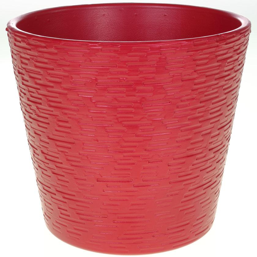 Купить Кашпо керамическое 464 15 см красный матовый