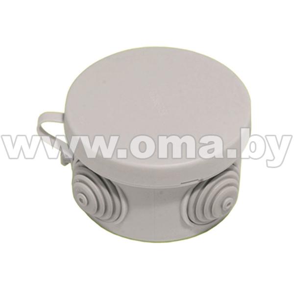 Купить Коробка монтажная, разветвительная для откр. установки круглая КР2601-И (г/р Ф74, 6х44)мм HEGEL