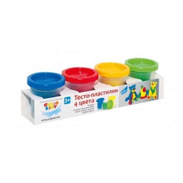 Купить Набор для детского творчества Тесто пластилин 4 цвета артикул TA1008V