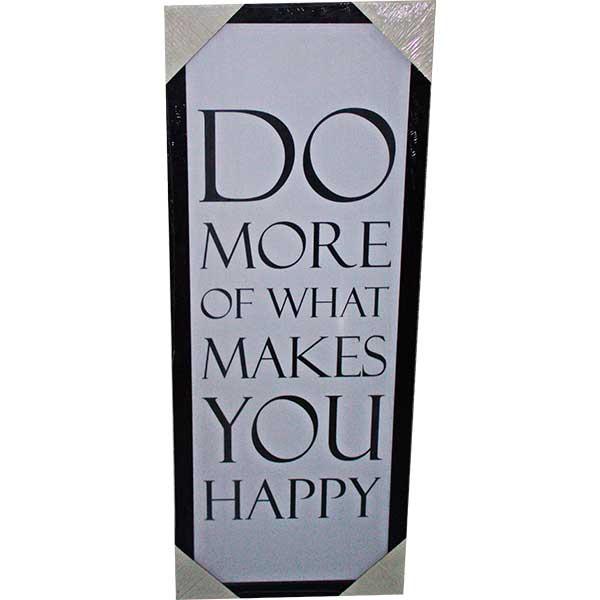 Купить Картина со смыслом Делай счастье 1301013, 28х72 см