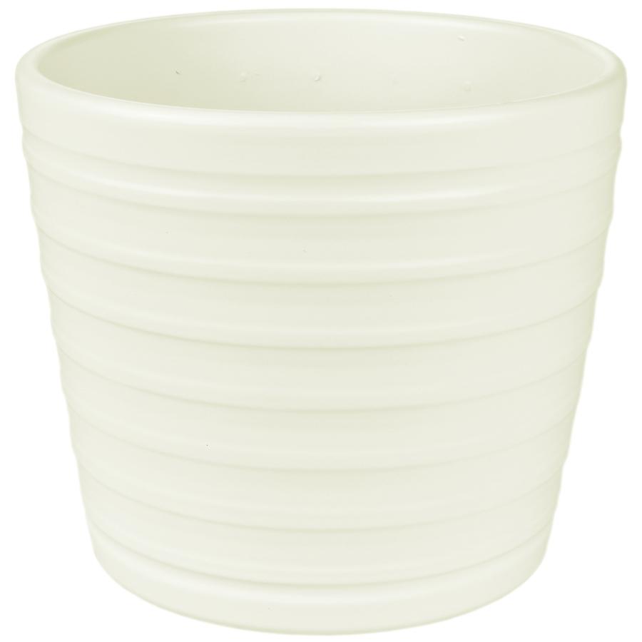 Купить Кашпо керамическое 819 15 см ваниль матовый