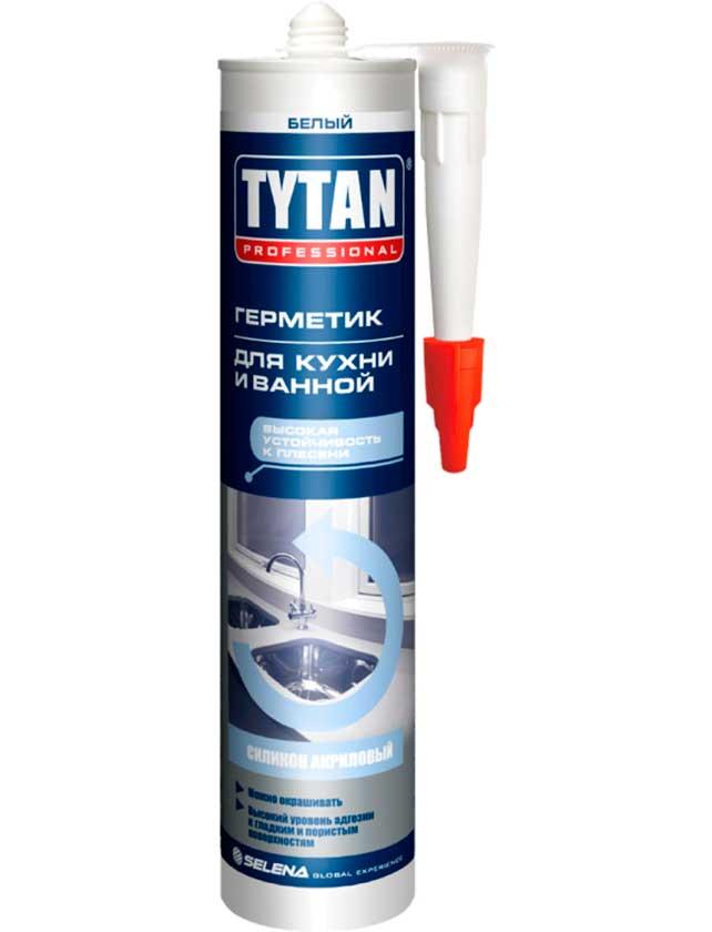 Купить Герметик силиконакриловый для кухни и ванной Tytan Professional белый 310мл