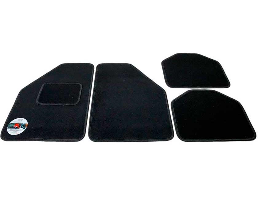 Производитель не установлен / Кілімкі тэкстыльныя чорныя 4 штукі, 64х43 см, 43х32 см