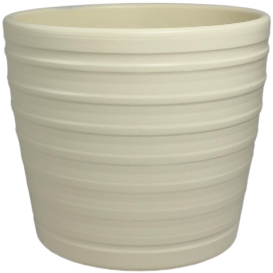 Купить Кашпо керамическое 819 15 см кремовый матовый