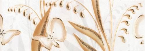 Купить Плитка для ванной Beryoza Ceramica Нарцисс / Narciss лето фриз бежевый 200 х 70