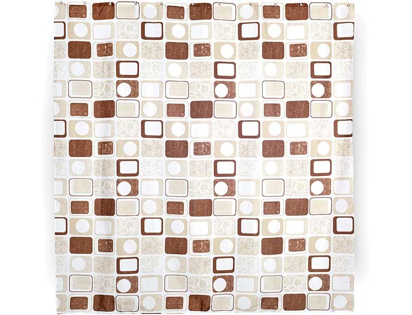 Купить Штора для ванной тканевая 180x180 см Object, арт. 631-00 (т.м VERRAN)
