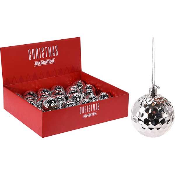 Купить Набор шаров елочных CAA716510, 6 см, серебро, полистирол, 4 шт