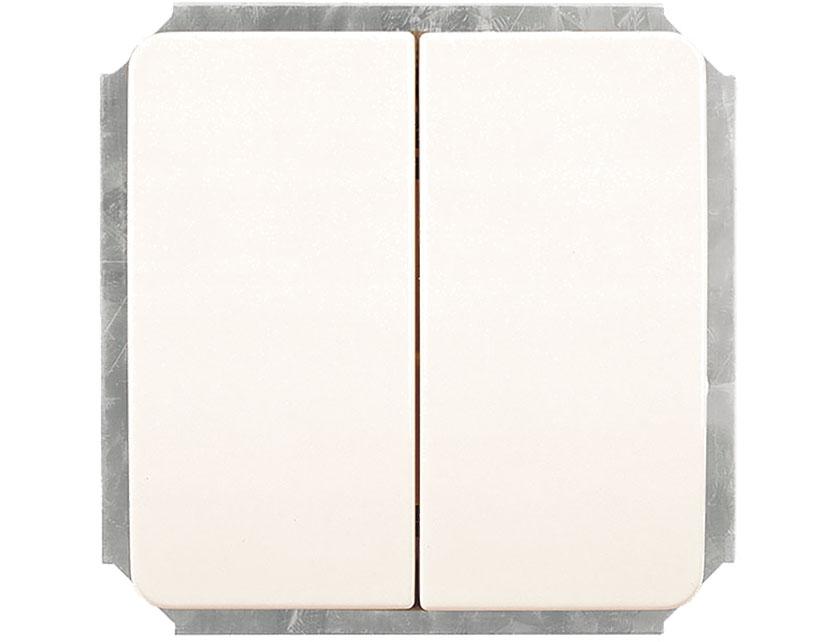 Купить Выключатель двухклавишный без рамки Gusi Extra С1В2-001 белый