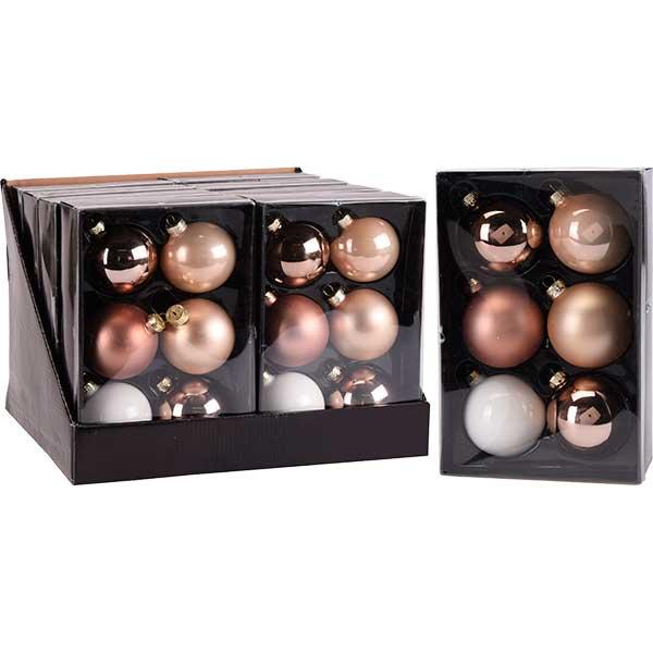 Купить Набор елочных шаров ABR501140, 6, 5 см микс, стекло, 6 шт