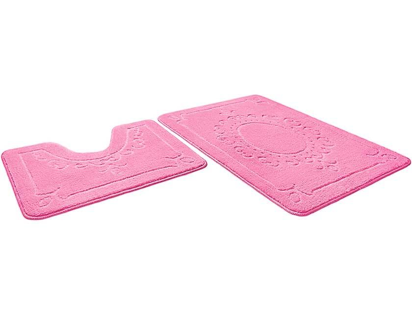 Купить Набор ковриков для ванной ЭКО 861712, 60х90 см, 60х50 см, розовый
