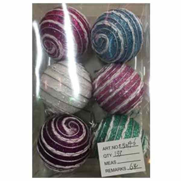Купить Набор ёлочных шаров X15019-6, 6 шт, 6 см
