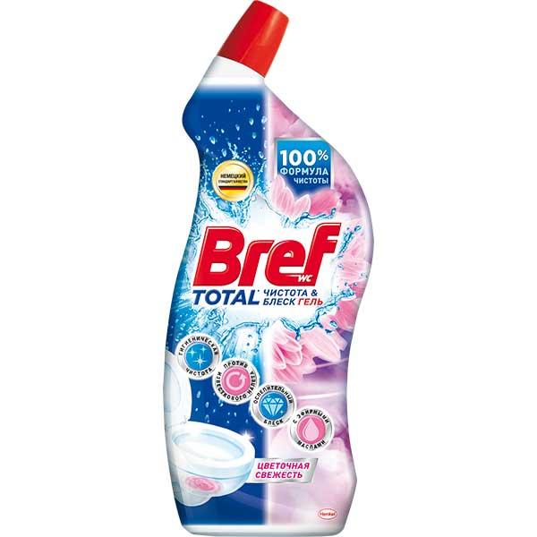 Купить Средство для унитаза BREF Total Цветочная свежесть гель, 700 мл