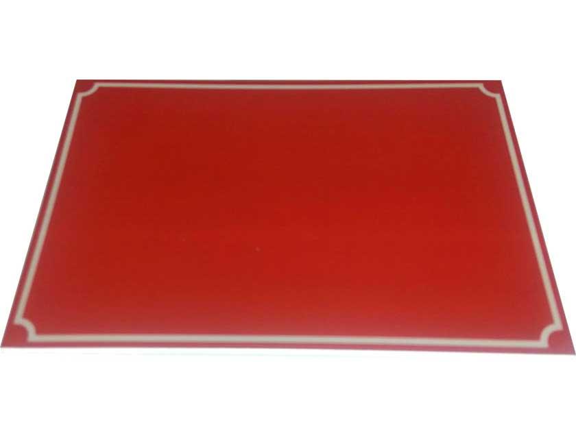 Купить Табличка на дом бордовая 200x300 мм, пластик