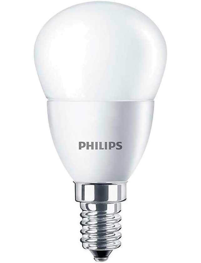 Купить Лампа светодиодная Р45 (шар) 5, 5Вт Е14 4000К (хол.свет) ESS 929001960207 LEDLustre Philips