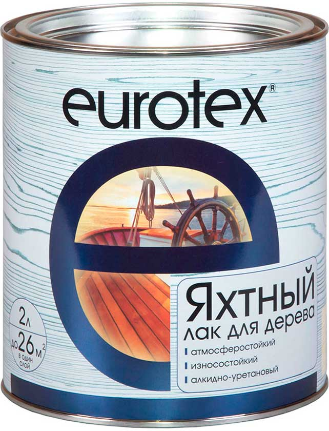 Купить Лак Eurotex Яхтный (Полуматовый) 2 л