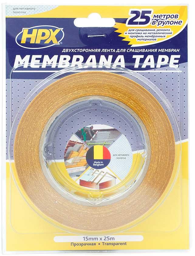 Купить Лента клейкая двухсторонняя MEMBRANA TAPE прозрачная 15мм х 25м