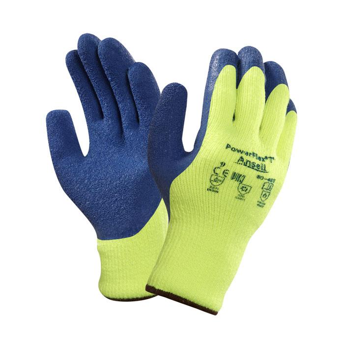 Купить Перчатки Пауэр Флекс хлопчатобумажные с каучуковым покрытием, размер 9